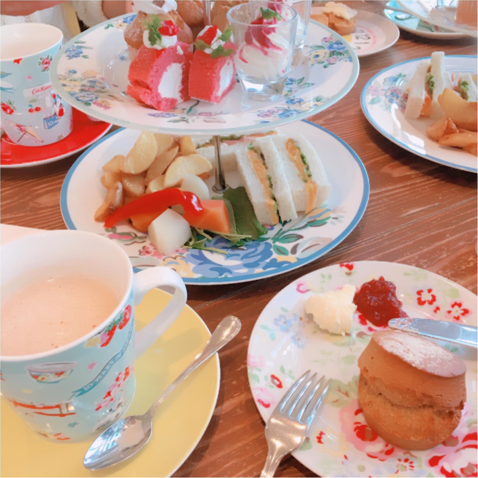 《ご当地モア❤︎神奈川》日本でココだけ【Cath Kidston(キャスキッドソン)】かわいいカフェでアフタヌーンティー*°_3