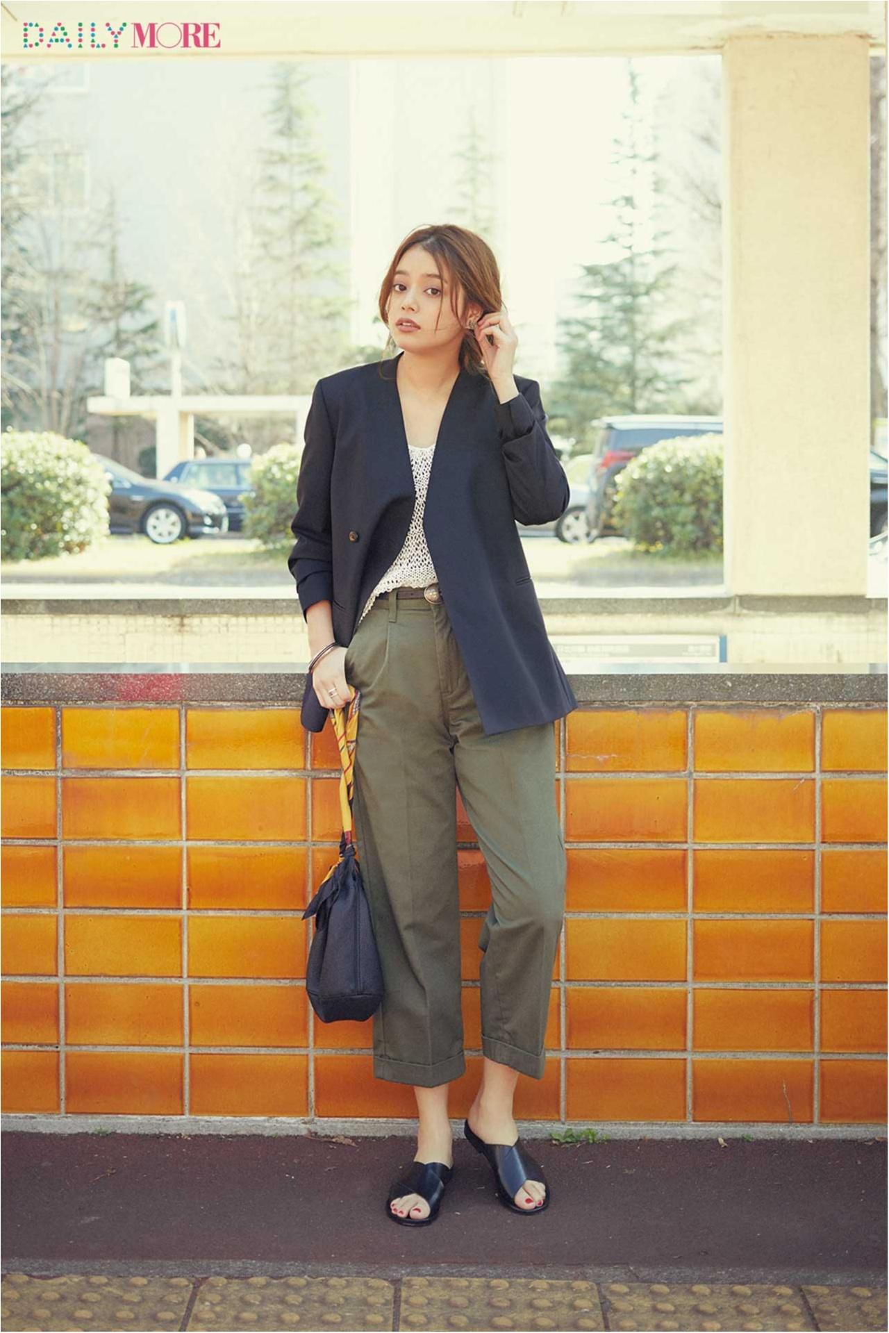 【今日のコーデ/岸本セシル】カジュアルなパンツが好き、だからジャケットできちんと。_1