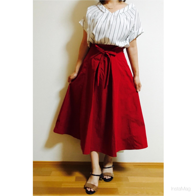 【index】2wayで着られる《リボン付きフレアスカート》着回しやすさ◎です!_8