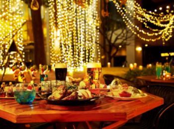 デートにおすすめ 「グランカフェビアガーデン」♡ 星のイルミネーションに囲まれながら乾杯しよう!【#ビアガーデン 2019 東京】
