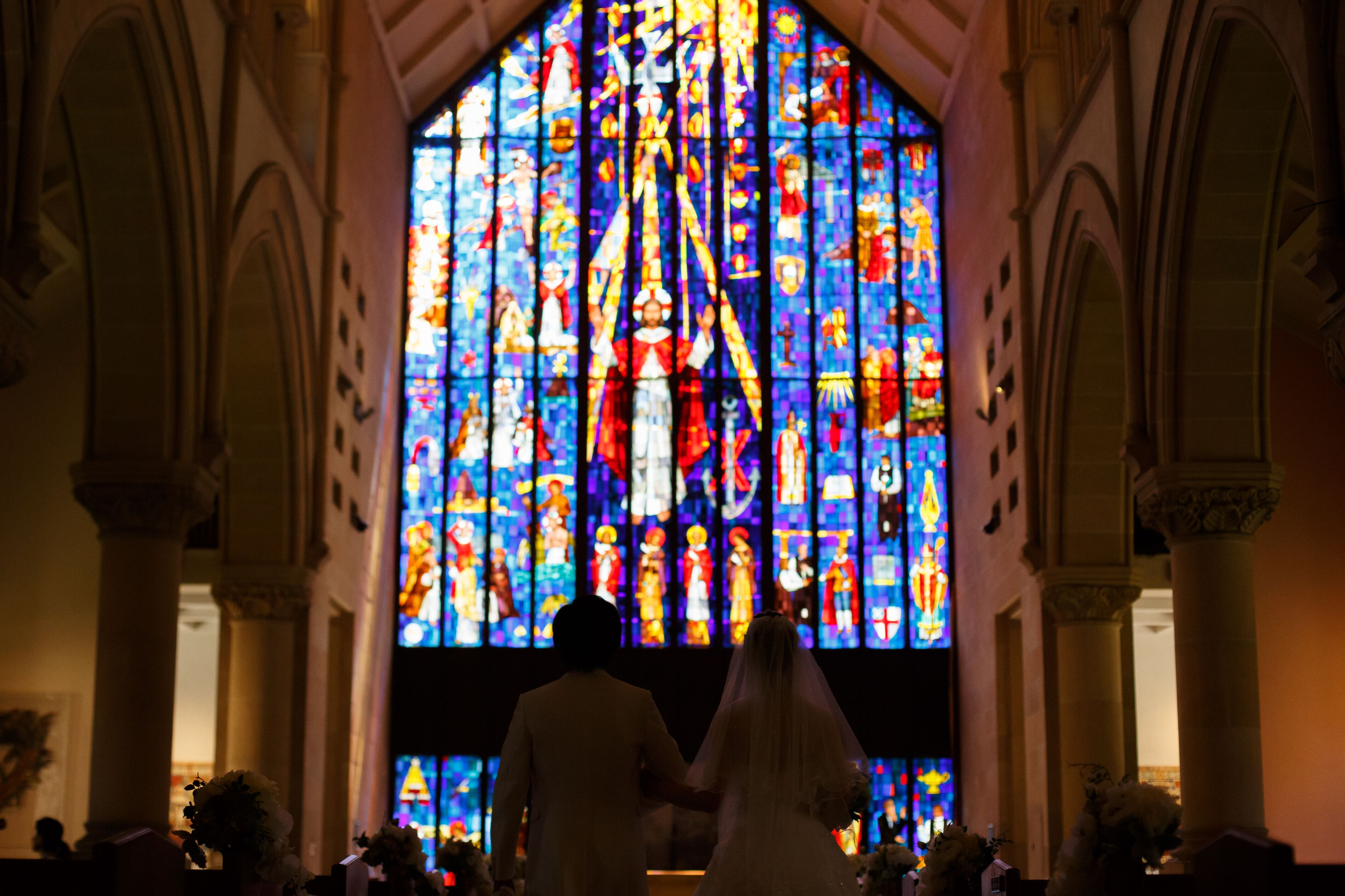 【ハワイ挙式】幻想的なステンドグラスが魅力的!セントアンドリュース大聖堂にて結婚式を挙げました♡♡_3