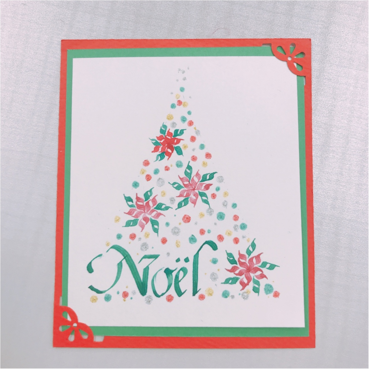 【大人の習い事】カリグラフィー教室2回目!クリスマスカードを作りました♡_4