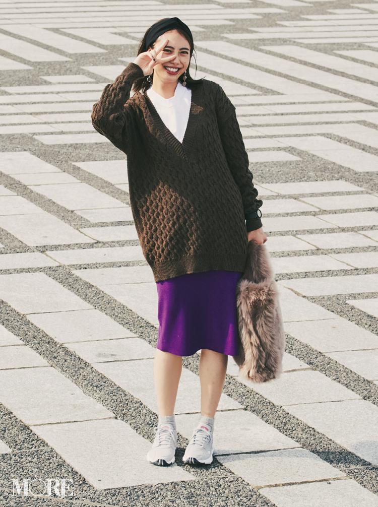 注目のきれい色【パープル】コーデ見本   ファッション(2018年秋冬編)_1_4