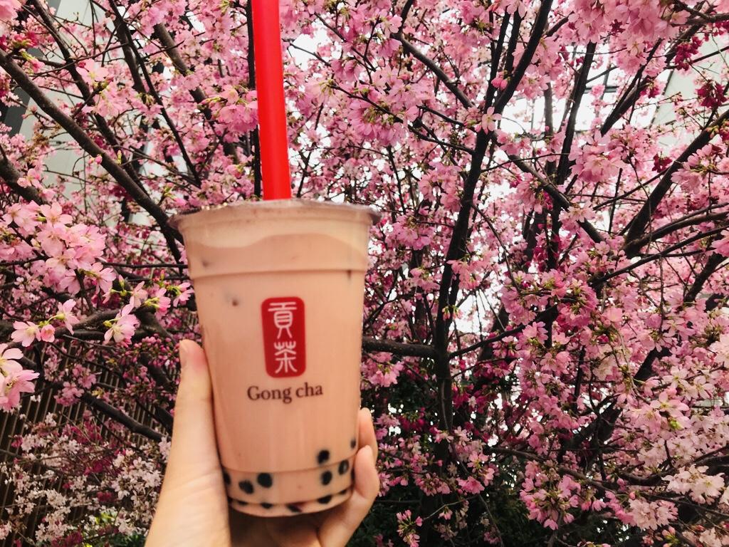 【Gong Cha】タピオカドリンクも春仕様♪《苺×ミルクティー×タピオカ》の最強コラボ♡_3
