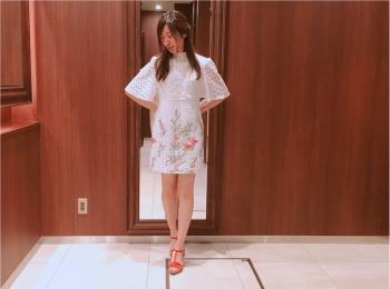【ZARA】刺繍入りレースワンピース(¥7,990)がクラシカルで可愛い♡