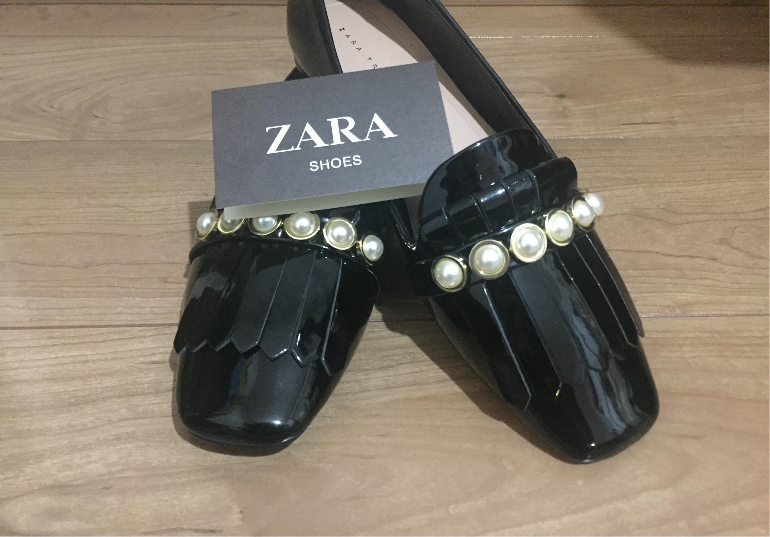 『ZARA』購入blog第三弾✧プチプラなのに凝ったデザインで高見え!1度品薄になりかけたこちらの靴をGETしてきました!_1