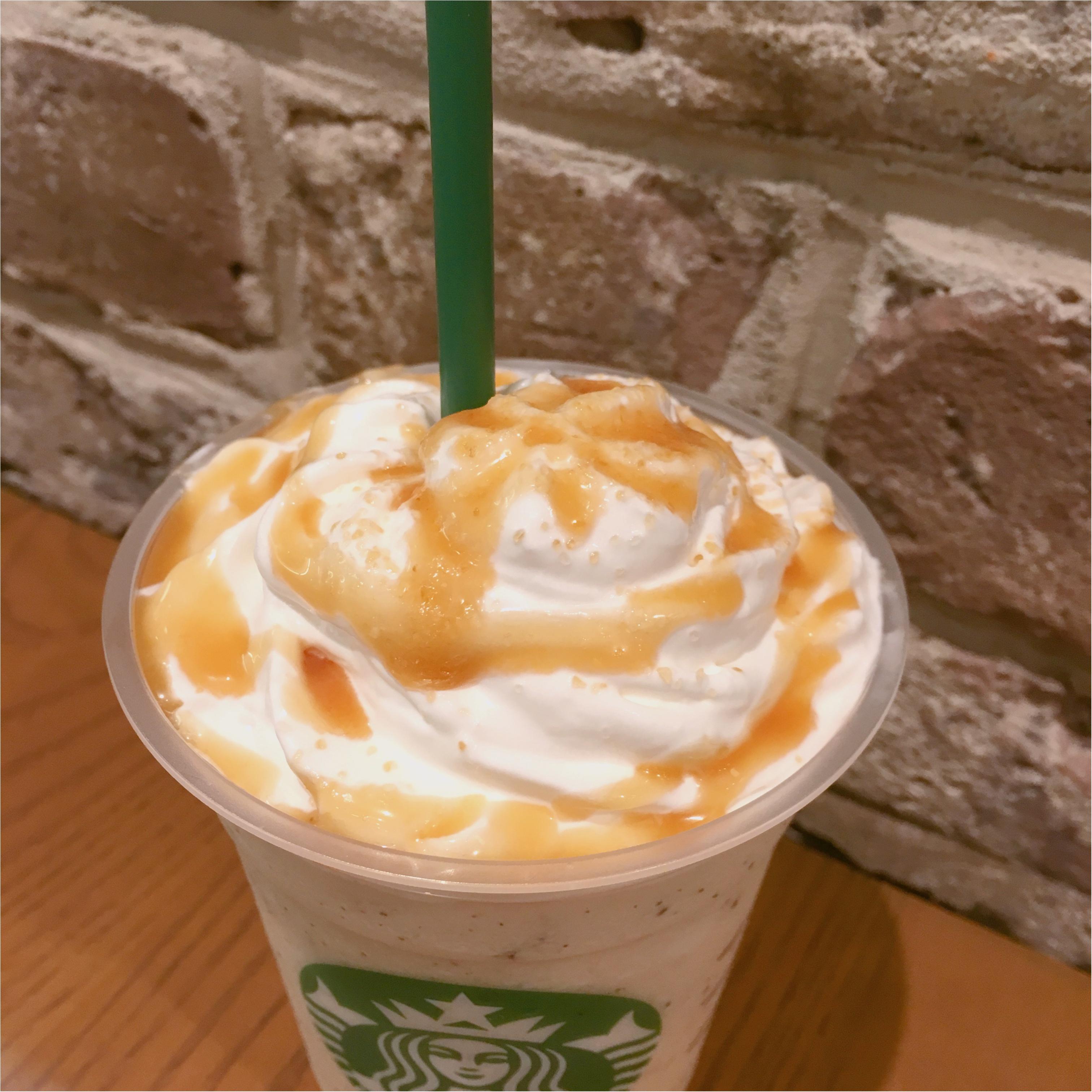 【10月1日まで】秋に飲みたい♡期間限定のほうじ茶クリームフラペチーノwithキャラメルソースが登場 ♡♡_4
