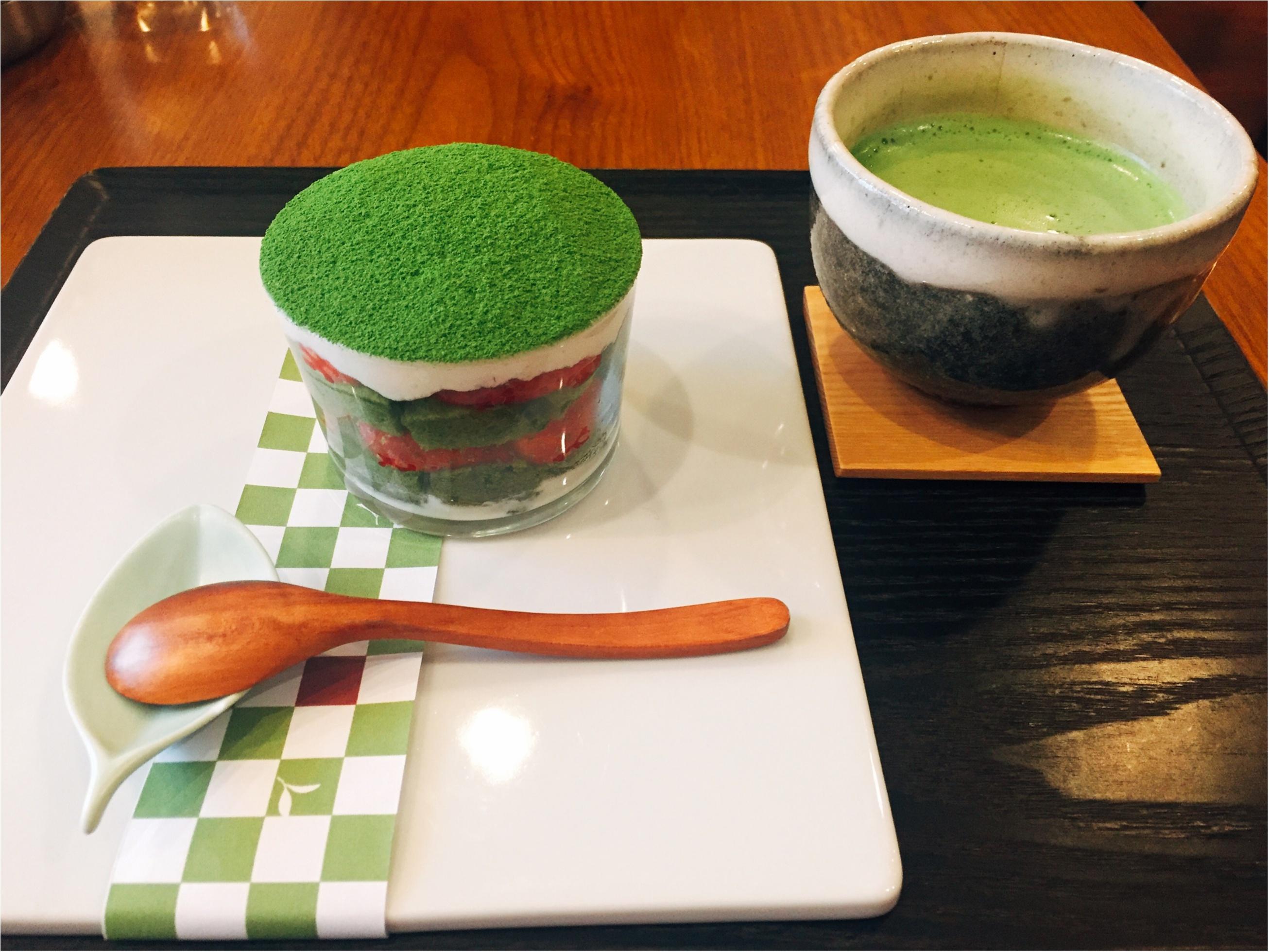 【表参道】日本茶が楽しめるカフェ♡期間限定《苺いり抹茶ティラミス》を食べに行きました♩_8_2