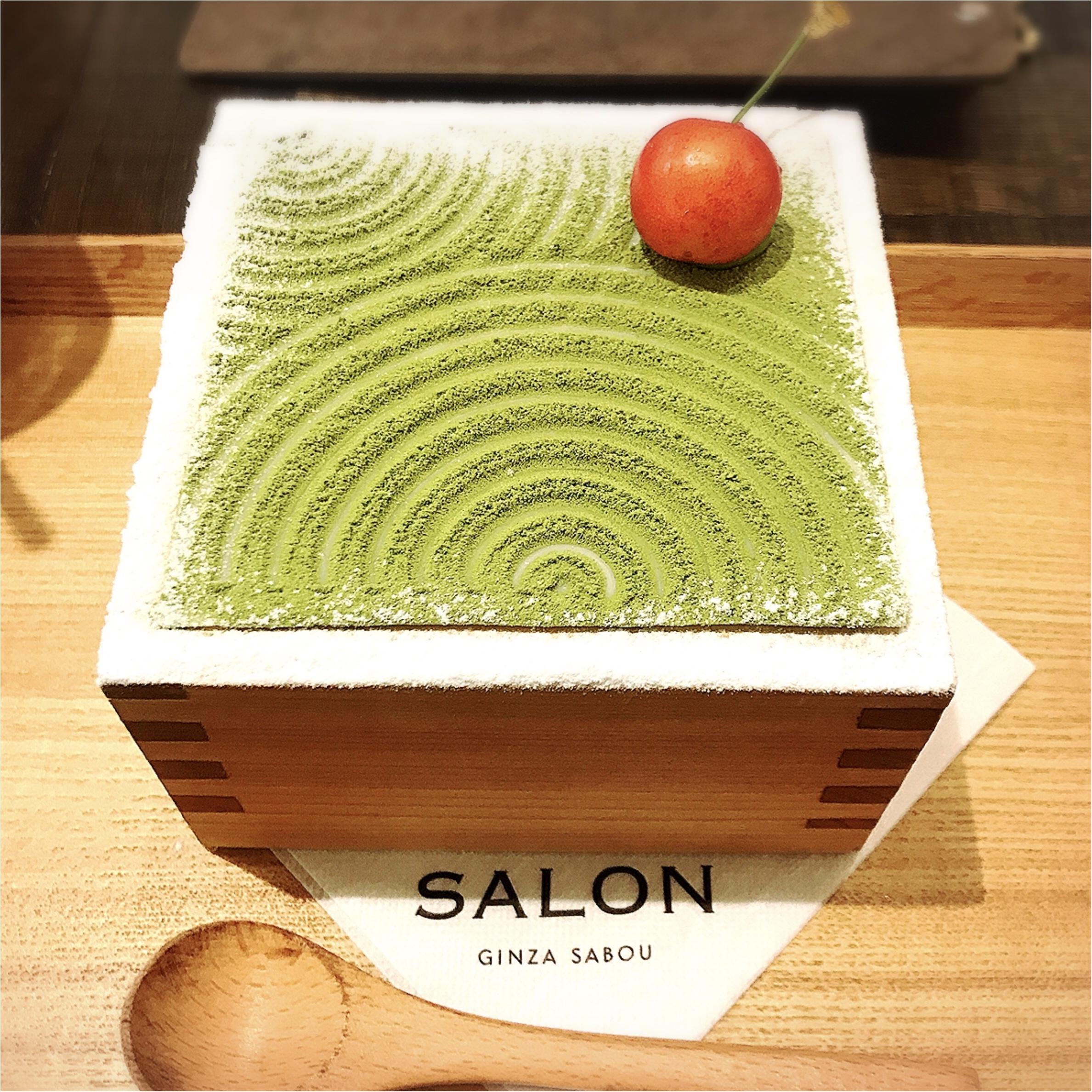 【銀座グルメ】《SALON GINZA SABOU》のフォトジェニックすぎる抹茶パフェ♡_3