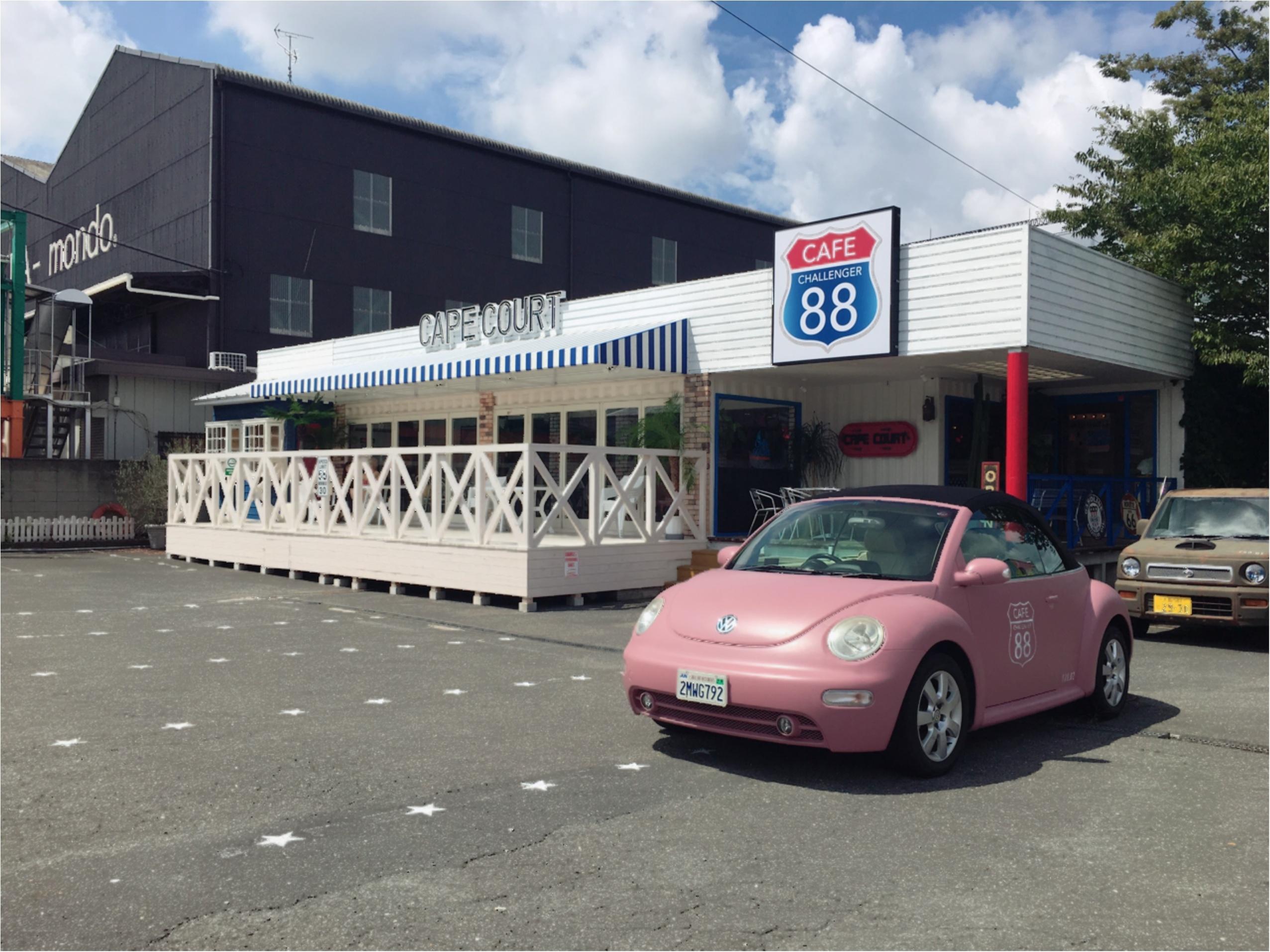 PINK!車がフォトジェニック◎アメリカンカフェ♡♡_2