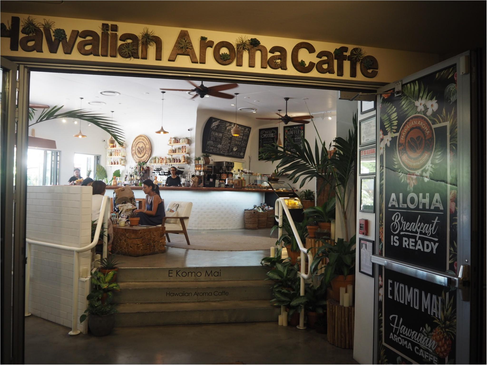 《今、ワイキキで一番オシャレでフォトジェニックなカフェ!》ハワイアン・アロマカフェでまったりブランチ♡♡(&旅行で役に立つプチ英語教室)_3