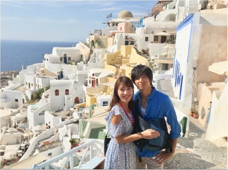 青と白の世界♡憧れのサントリーニ島へ♡_4