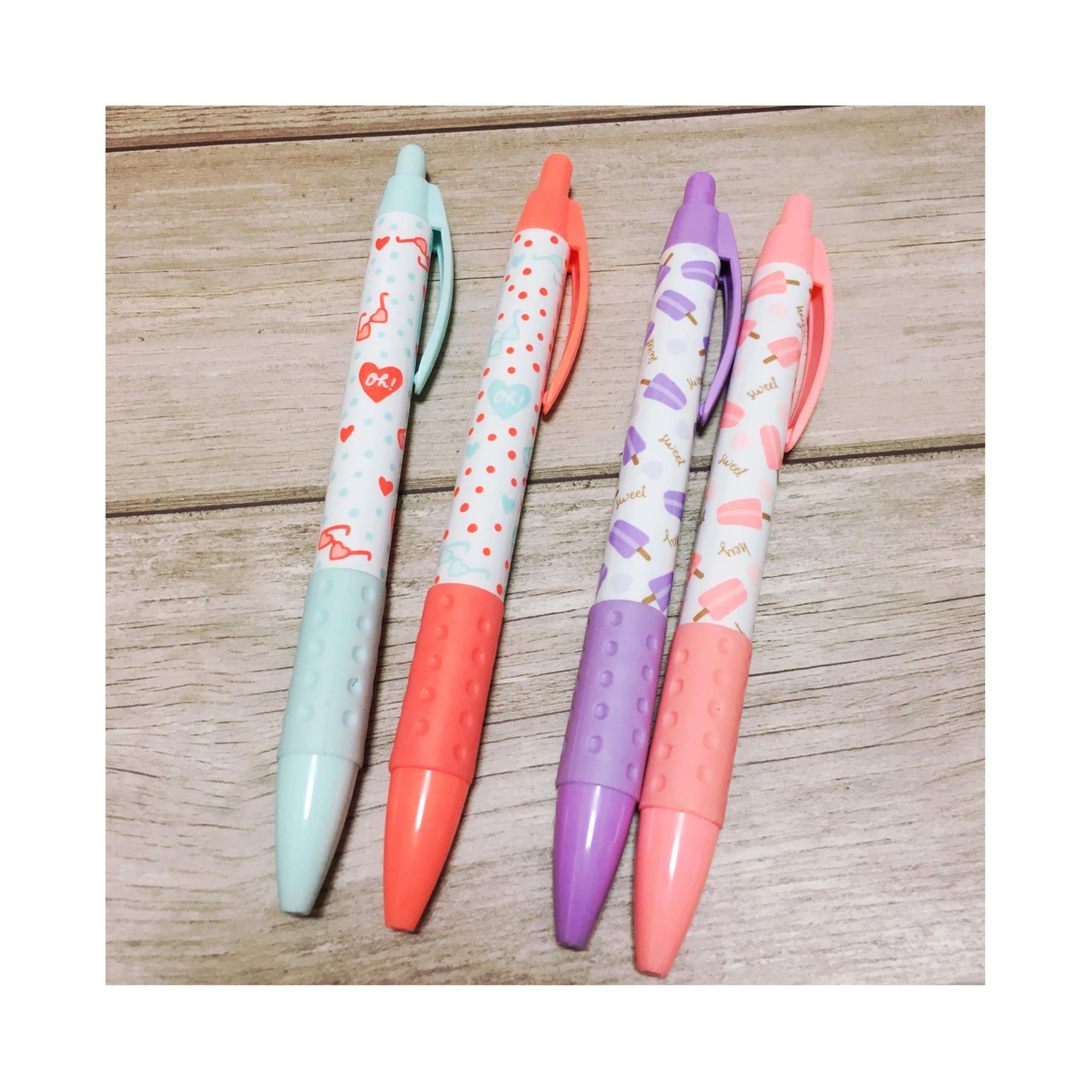《オフィス用品も夏仕様にチェンジ★》【DAISO】で見つけたボールペンがかわいい!❤️_1