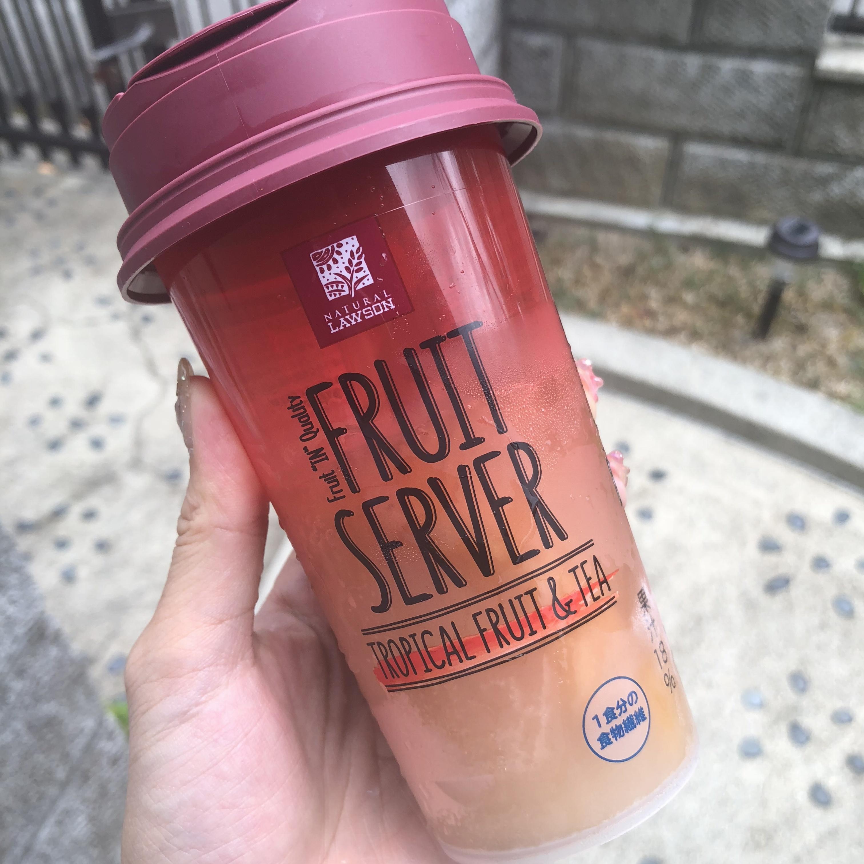 ローソン FRUIT SERVER♡TROPICAL FRUIT&TEA♡コンビニで見つけたtropical drink_5