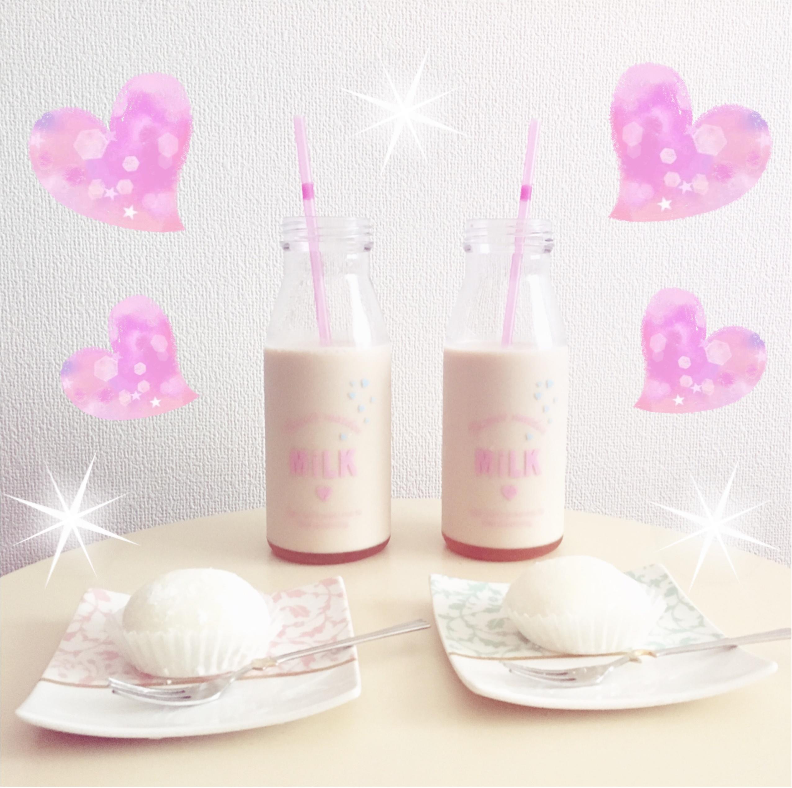 コレが108円⁉︎ドリンクボトルが牛乳瓶みたいでかわいい♡おうちカフェにも♡_3