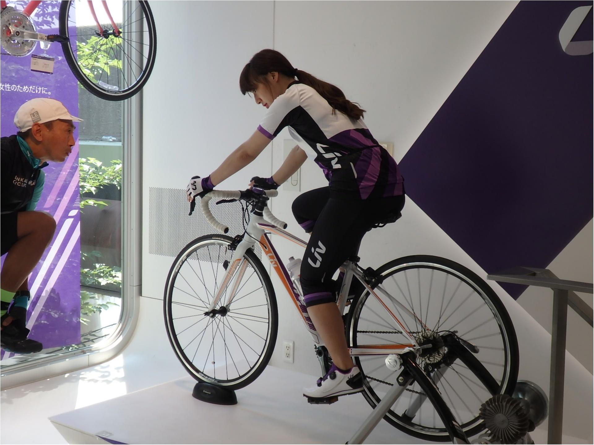 初ロードバイク!!『 ツール・ド・東北』三人娘、全員で練習スタート♪まずは室内練習から!【#モアチャレ あかね】_4