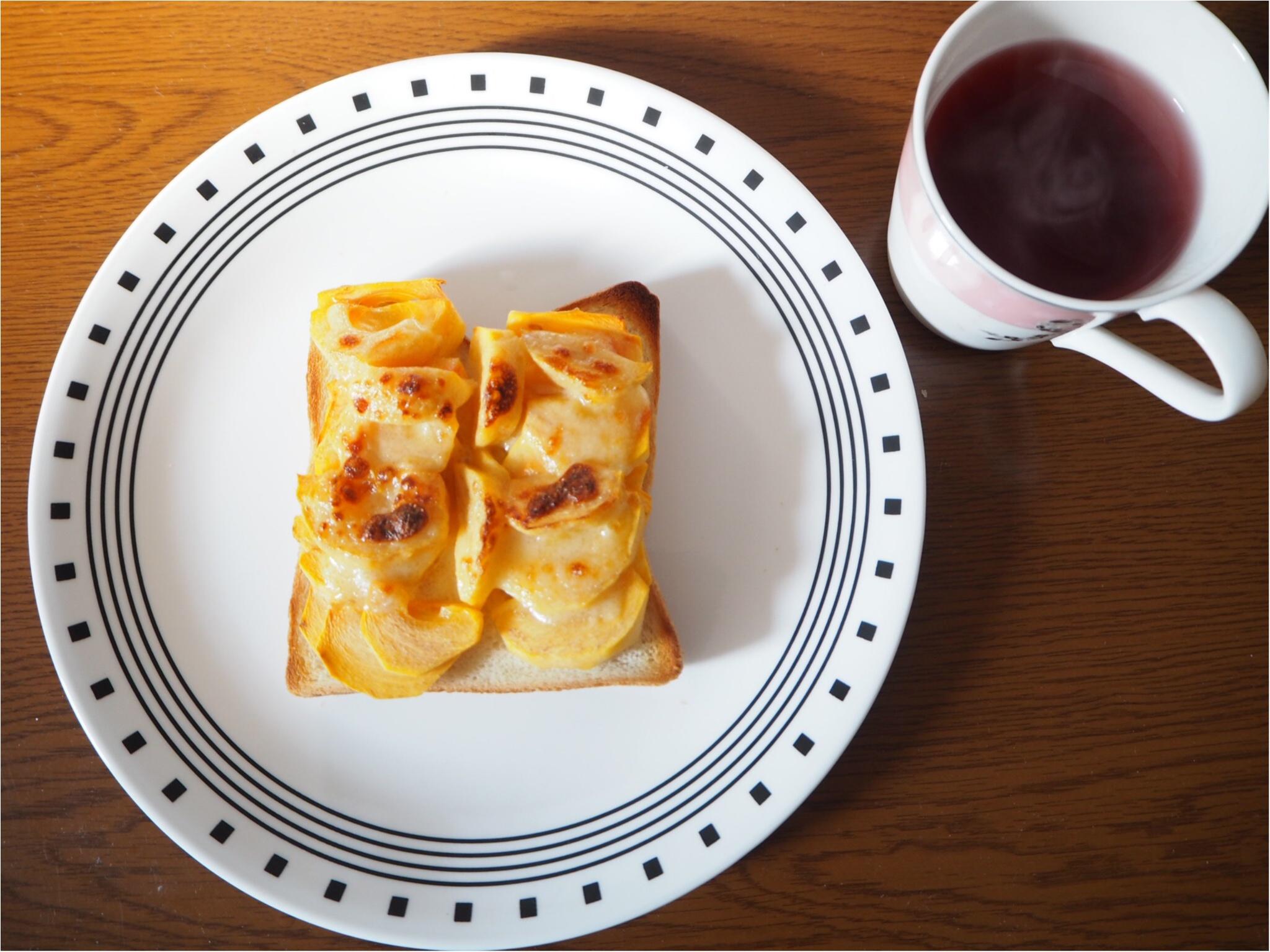 moco▶︎激ウマ!柿トーストで美味しい朝を♡_2