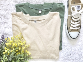 【UNIQLO】お洒落さんがこぞって買っている《話題のTシャツ》を2色買い❤️7/5までならお買い得なので急げっ!
