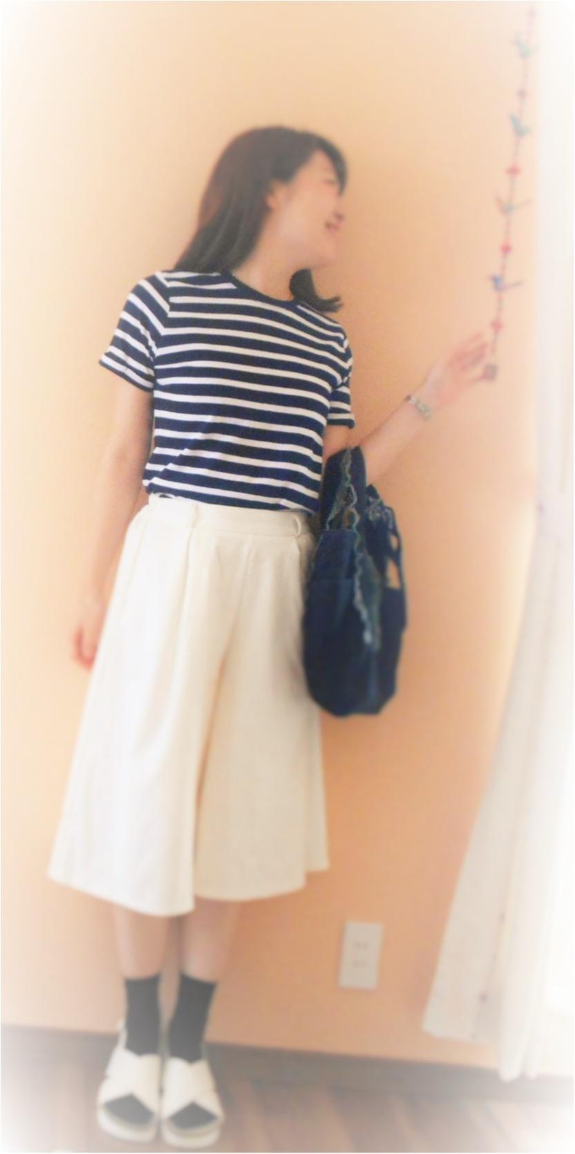 →【coordinate♡】1000円でお釣り!GUのTシャツ・ほんわかモノトーンコーデ☆彡① Myu2._4
