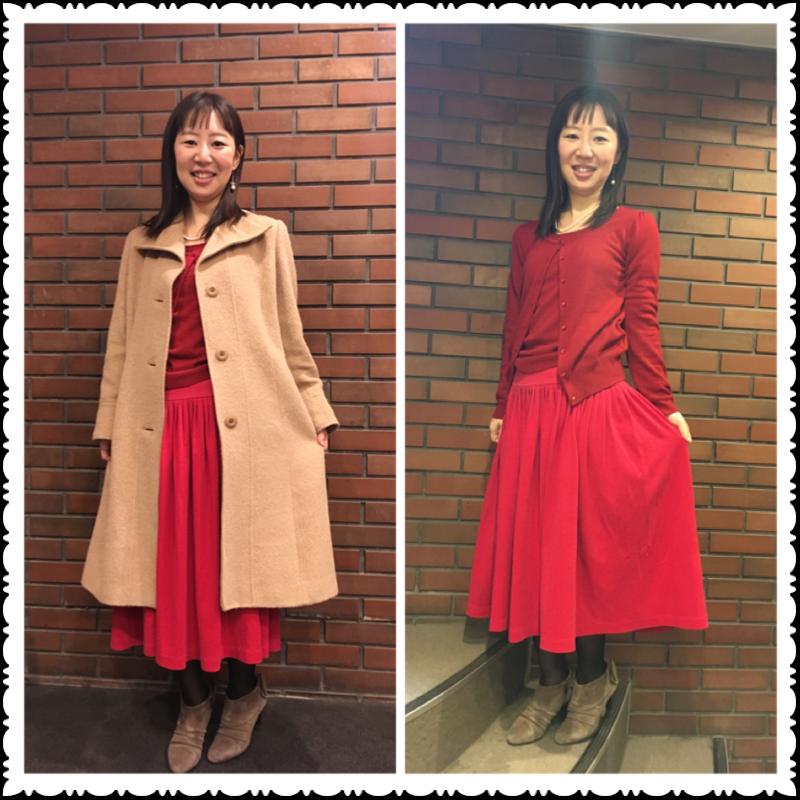 ドレスコードは赤❤️表参道のオシャレなお店で女子会_11