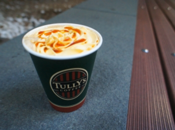 《10/1スタート❤️》季節限定!【TULLY'S】塩キャラメルパンプキンラテを飲んできました☻