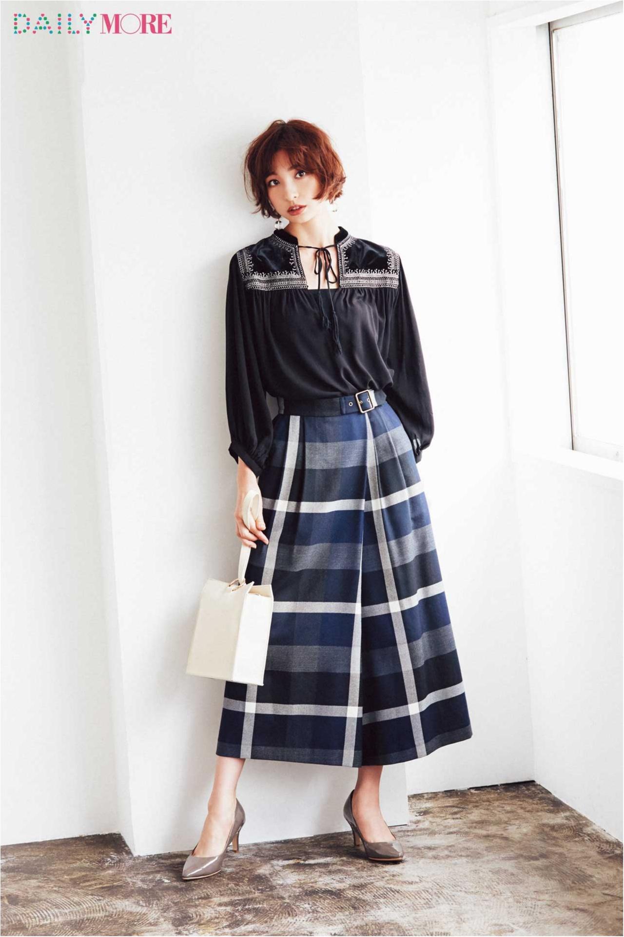 """とびきりレディ&ちゃんと今っぽい。""""チェック""""の新しい着こなしは麻里子をお手本に♪_1"""