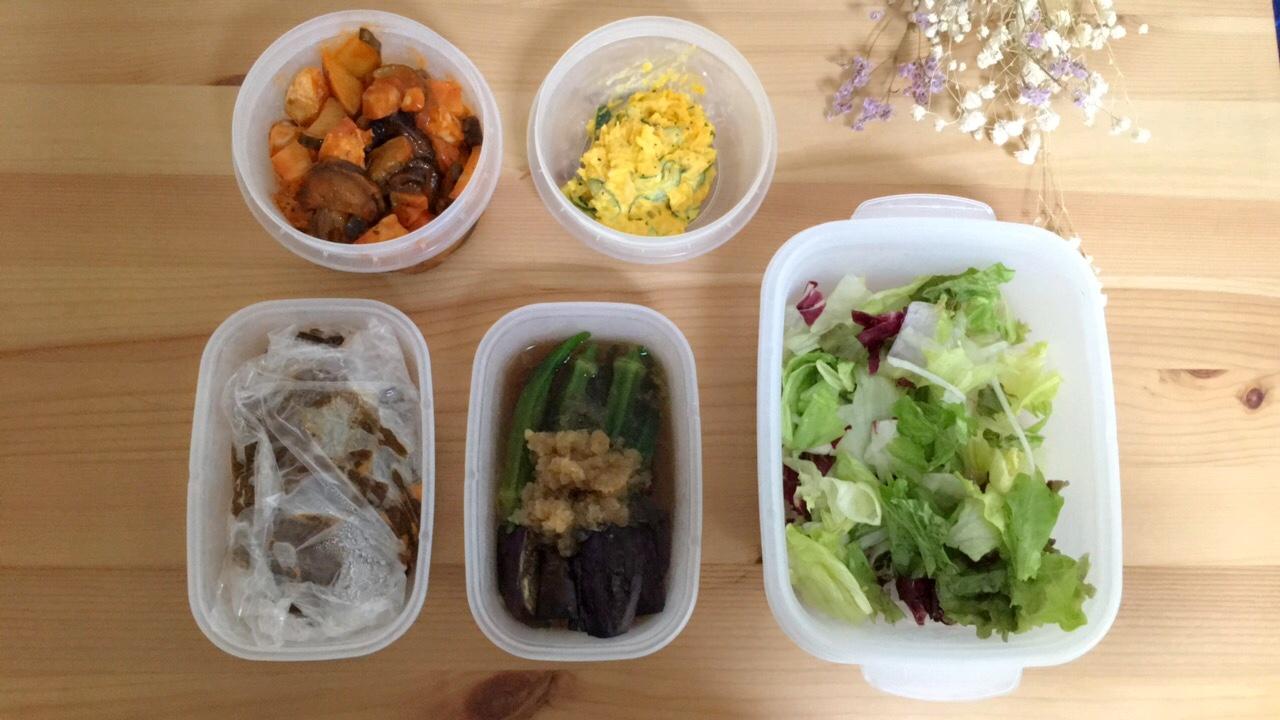 《つくおき》夏野菜をたっぷり使って簡単作り置き♡_1