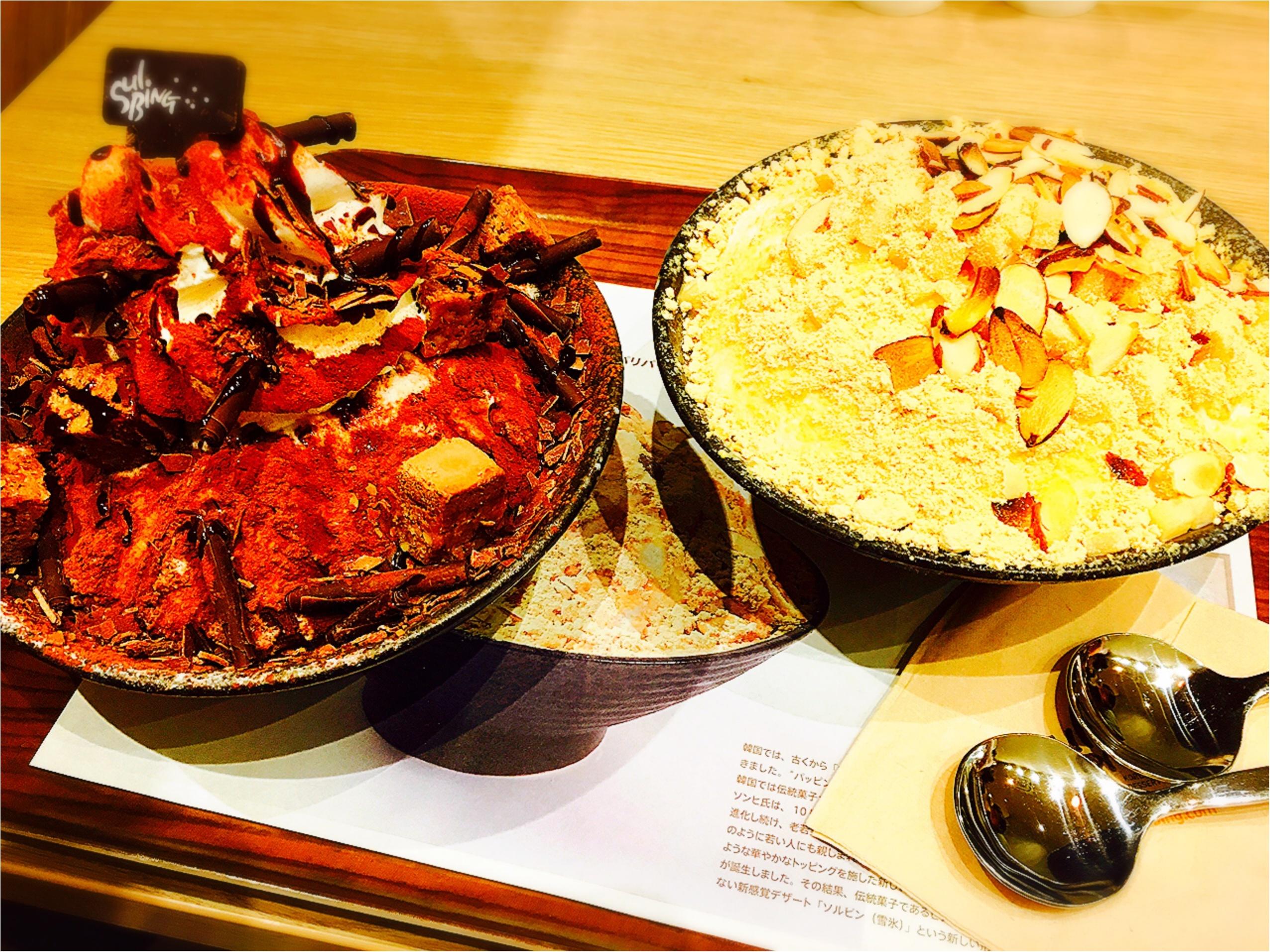 ◎ソルビン原宿店にいってきました♡日本限定のチョコレートソルビンが大人気の為延長してます(°▽°)_2