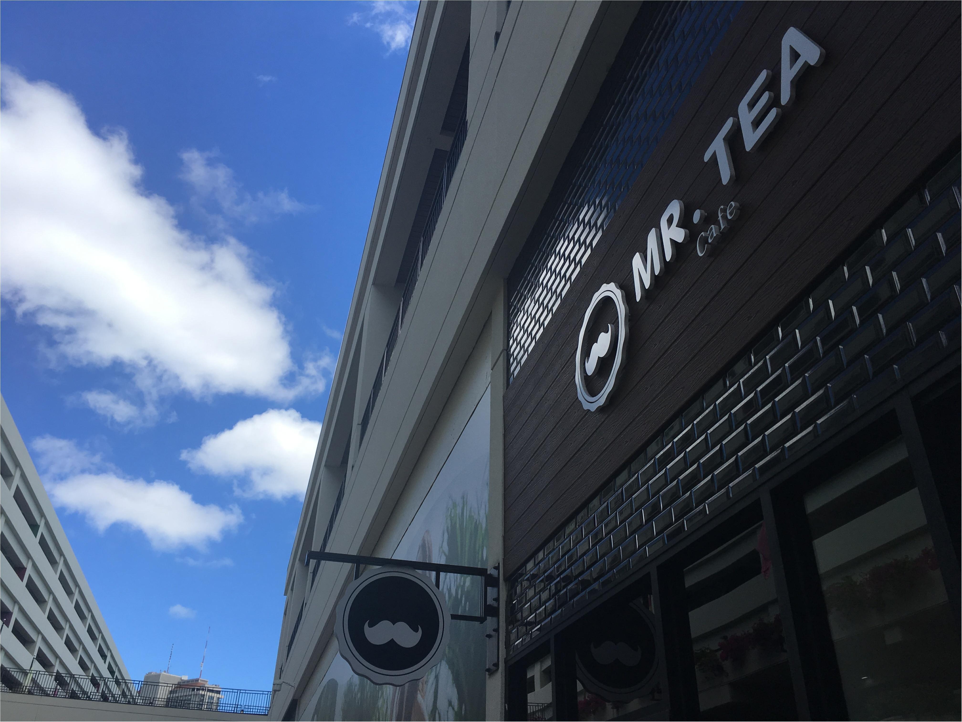 ヒゲマークがカワイイ♡●●で飲めるタピオカミルクティー「Mr.Tea Cafe」_1