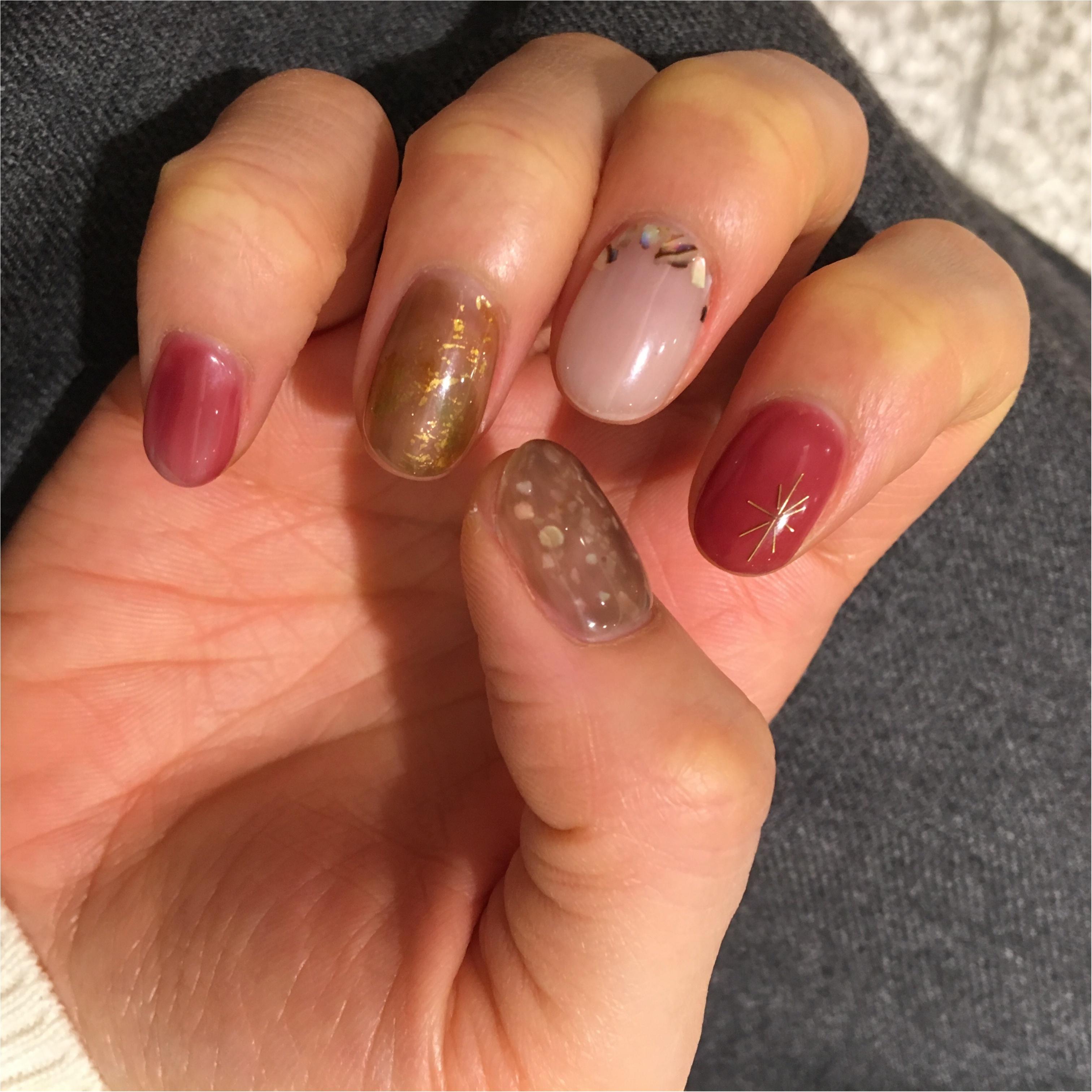 My Nail...今季最後の冬ネイル。欲張りに5色使っても統一感がでるコツ☺︎_3