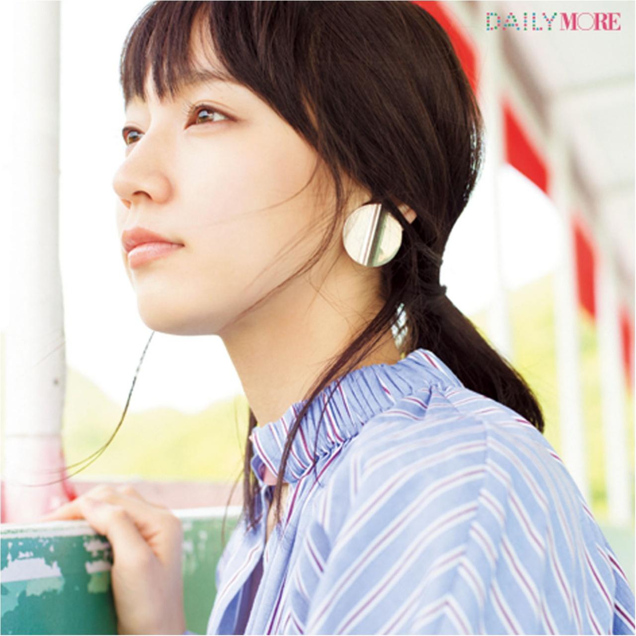 女優・吉岡里帆さんのお気に入りワンピースは、爽やかに女っぽいストライプ柄♪_2_1