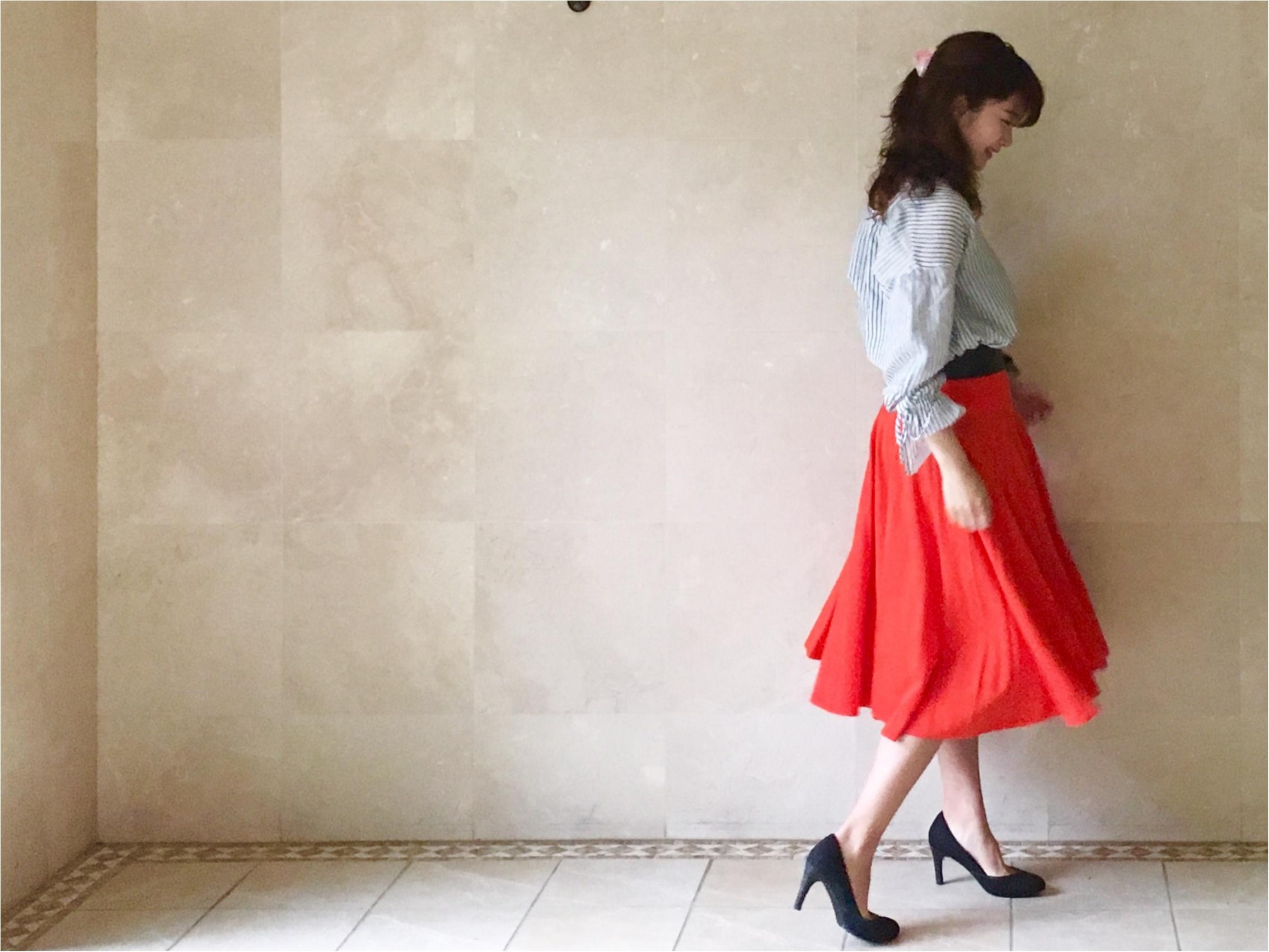 【UNIQLO】シワになりにくいからお手入れ楽チン❤️《美シルエットの優秀スカート》3選!_3