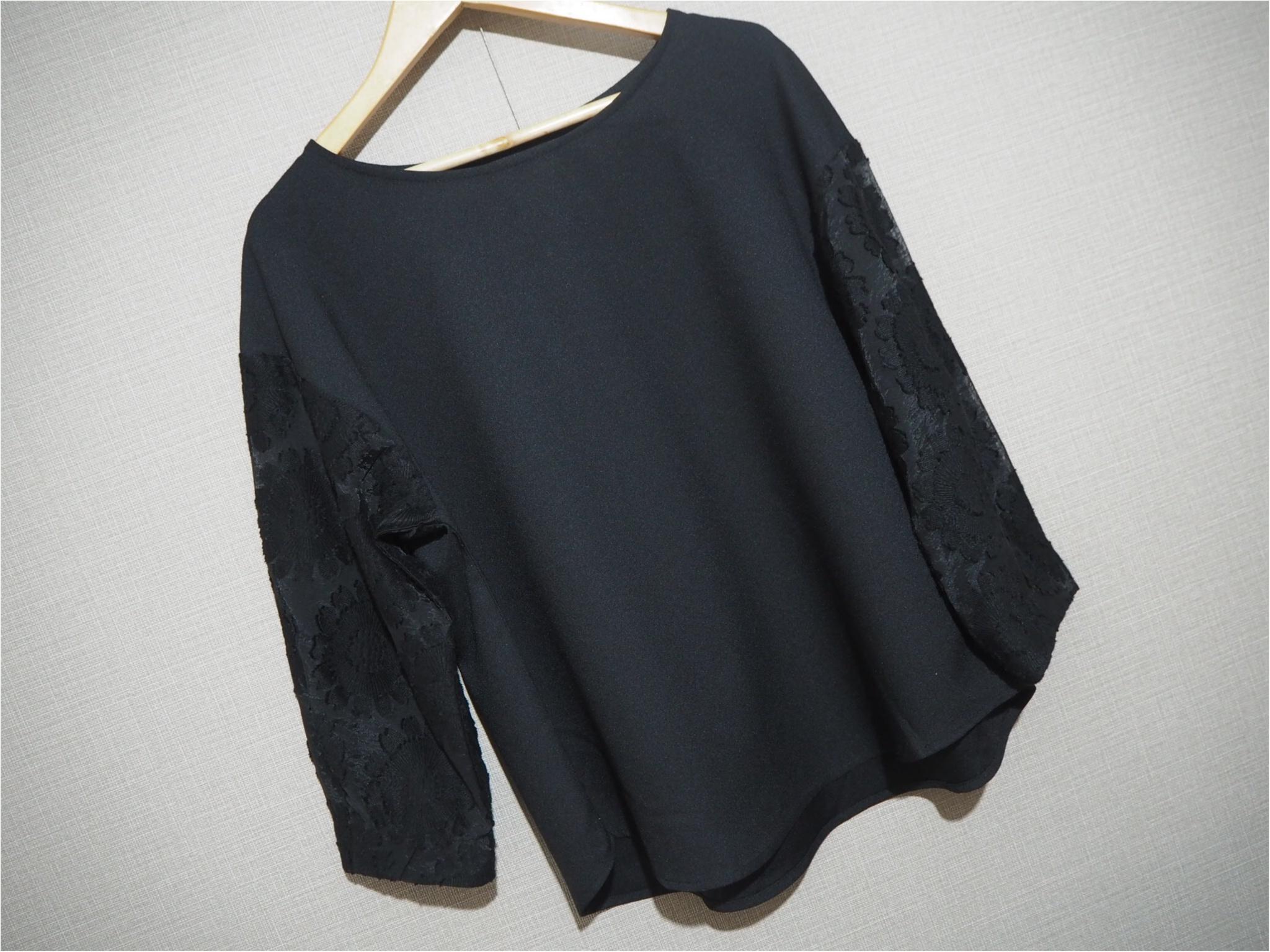 【GU購入品】今買って春まで使える!袖の透け感が可愛いブラウスをGETしました❤︎_1