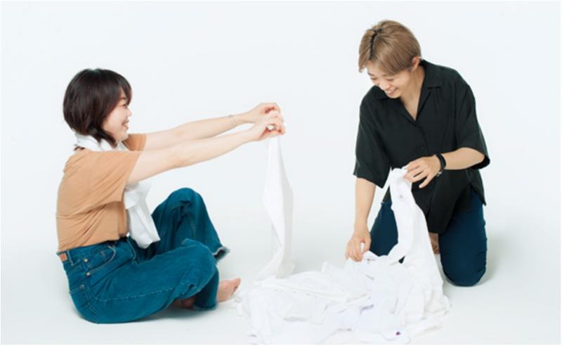 「なで肩&二の腕太め」さん・「大胸&骨太」さんに似合う白Tシャツはどれ? スタイリストが全部試しました☆_2_2