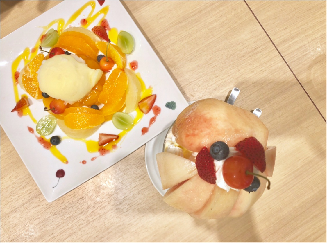 桃丸ごと2個分の幸せ❤️【果実園リーベル】今しか食べられない至福のパフェ!_4