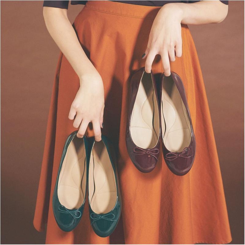 ユニクロ,きれい色,バレエシューズ,靴