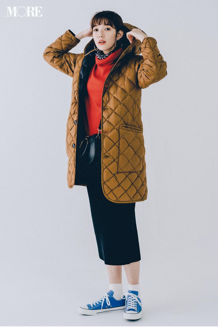 【今日のコーデ】休日コーデはキルティングコートとコンバースで楽しくカジュアルダウン☆ <佐藤栞里>_1