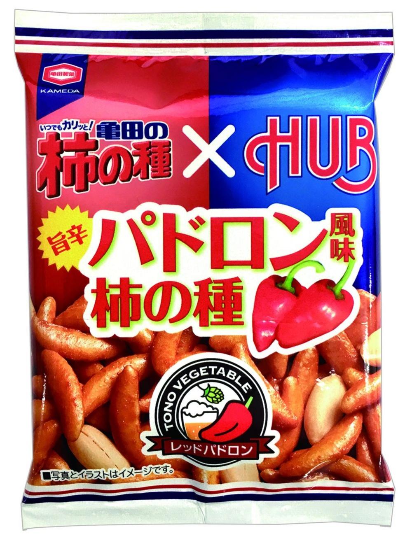 英国風パブ『HUB』限定! 「亀田の柿の種 パドロン風味」が気になる。 _1