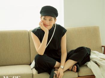 本田翼がお手本♡ モノトーンコーデには「カラーアイライン」でさし色が絶対可愛い!