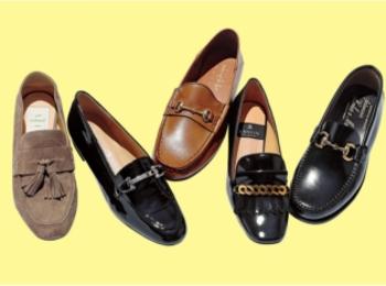 おじ靴派もバレエシューズ派も。秋冬フラット靴の注目株「モチーフつきローファー」をチェックすべし!