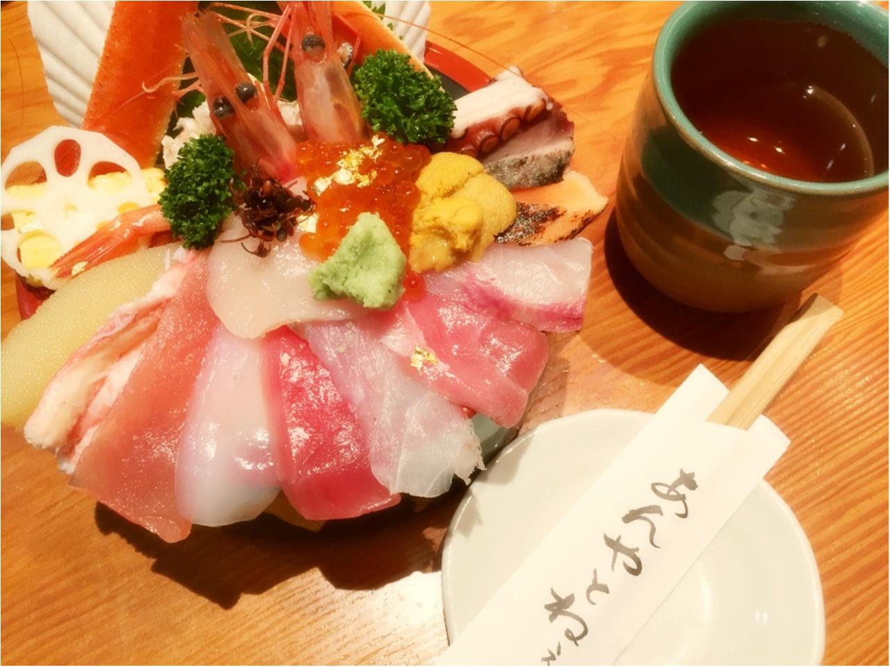《週末金沢旅》『豪華海鮮丼』と『絶品葛きり』に舌鼓♡*_3
