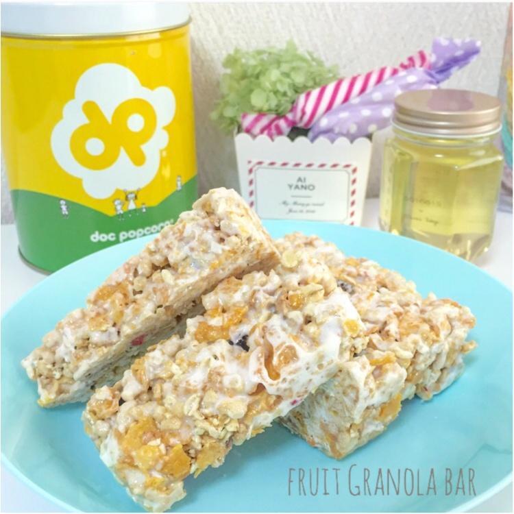 【FOOD】\愛ちあんCafe ♥︎/簡単!忙しい朝、サクッと栄養欲しいから。食物繊維たっぷりグラノーラバーの作り方_1