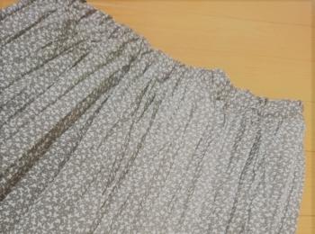夏のセール戦利品! 秋にも着回せる小花柄プリーツスカート【SamansaMos2】