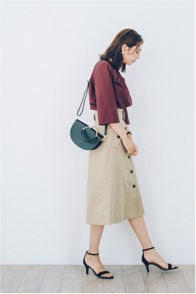 ちょっと上のおしゃれも目指せる! 旬の【トレンチスカート】コーデ15選 | ファッション(2018年秋)10